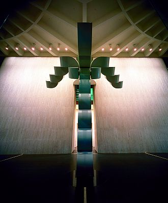 Carlsberg sculpture inside Riverside Centre. Photo: John Gollings. © Harry Seidler & Associates