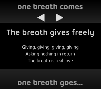 screenshot of one breath page