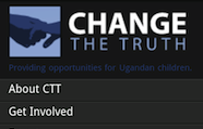 Change The Truth logo as seen on mobile phone