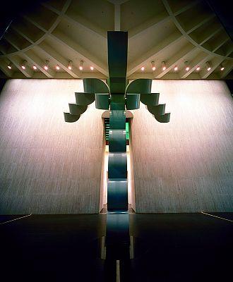 Carlsberg sculpture inside Riverside Centre. Photo: John Gollings. © Harry Seidler & Associates
