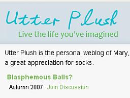 """utter plush logo"""" title=""""utter plush logo"""